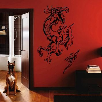 ik1600 Wall Decal Sticker Dragon mythical animal living bedroom teens