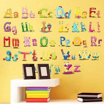 6220 Home Decor Decoration ABC English alphabet Minnie Wall Stickers Vinyl Mural Alphabet Decals Kids Children Lovely Nursery