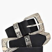 Plus Lucy Double Buckle Western Belt