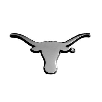 Texas Longhorns NCAA Chrome Car Emblem (2.3in x 3.7in)