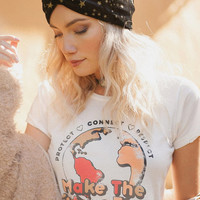 Future Foxy, Love the earth, Vintage tee, retro tee, 70's tee, Connect, Love the earth, Protect, Respect, Mother nature, Women empowerment