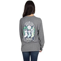 The Sweet Life Christmas Long Sleeve Tee in Dark Heather Grey by Lauren James - FINAL SALE