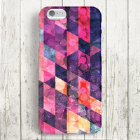 iPhone 6 Case, iPhone 6 Plus Case, iPhone 5S Case, iPhone 5 Case, iPhone 5C Case, iPhone 4S Case, iPhone 4 Case - Colorful Triangle Glitter