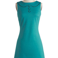 ModCloth Vintage Inspired Mid-length Sleeveless Shift One for the Picture Books Dress