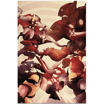 Secret Invasion: Front Line #5 - Limited Edition Giclee on Stretched Canvas by Juan Doe and Marvel Comics
