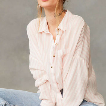 BDG Twill Striped Button-Down Shirt - Urban Outfitters