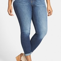 Plus Size Women's Lucky Brand 'Emma' Stretch Crop Jeans ,