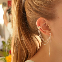EAR CUFF - Simple Leaf Ear Cuff. ( A2 )