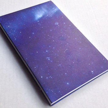 Stars Galaxy Blue Space journal with 80 blank pages 5.5X8.5