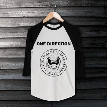 One Direction Shirt 1D 1Direction T-Shirt Long Sleeve White Color Shirt Short Baseball Shirt Unisex
