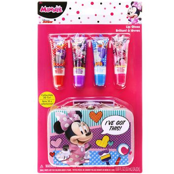 Minnie Mouse Lip Glosses with Collectible Tin