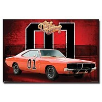THE DUKES OF HAZZARD POSTER General Lee - Car 01 NEW