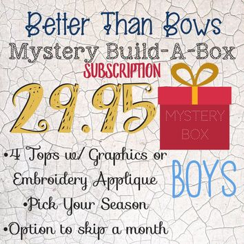 RTS BOY'S Mystery Box Subscription! 29.95