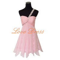 Pink Short Homecoming birthday Party Dress Ball Prom dress Bridesmaid dress