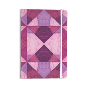 "Empire Ruhl ""Purple Angles"" Pink Geometric Everything Notebook"