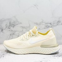 Nike Epic React Flyknit Beige Running Shoes
