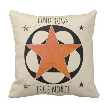 Find Your True North Star Throw Pillows