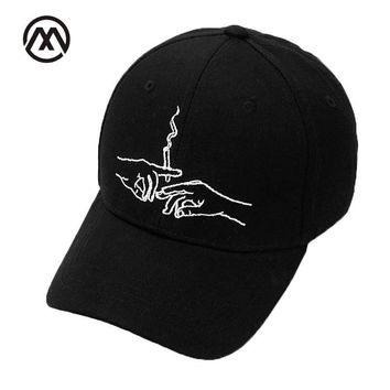 cc hcxx Smoke Embroidered Dad Cap