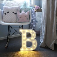 Letter LED Lights Up Sign for Wedding Home Party Bar Decoration