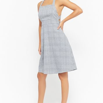 Glen Plaid Strappy Dress