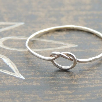 Love Knot Sailor Friendship Sterling Silver Ring. Dainty bridal Jewelry Ring. Bridesmaid Surprise Gift. Made to order