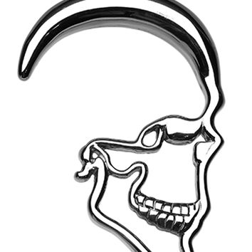 Skull Ray 316L Surgical Steel Ear Gauge Hanging Taper