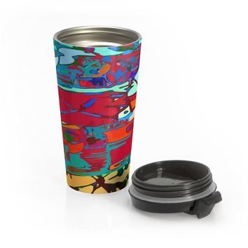 Michel Liénard Contemporary Art Stainless Steel Travel Mug