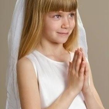 "2 Communion Veils -  "" Natalie ""  Crown Style"