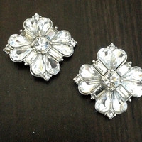 Crystal Flower gauges plugs earrings