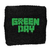 Green Day Men's Logo Cross Athletic Wristband Black