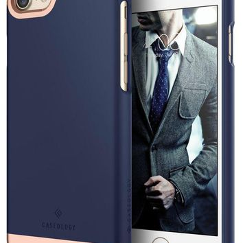 DCK4S2 Caseology Savoy Series iPhone 7 / 8 Cover Case with Stylish Design Glide Protective for Apple iPhone 7 (2016) / iPhone 8 (2017) - Navy Blue