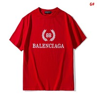 Balenciaga Summer Fashion New Bust Leaf Print Women Men Sports Leisure Top T-Shirt 6#