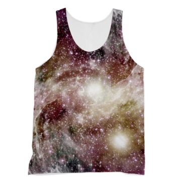 Swirling Pink and Yellow Galaxy American Apparel Sublimation Vest