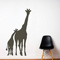 Wall Decal Vinyl Sticker Decals Art Decor Design Giraffe Animals Jungle Safari Kids Children Nursery Baby Living Room Bedroom (r194)