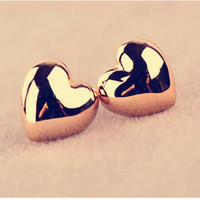 Simple smooth Heart Earrings