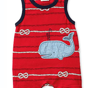 Sleeveless Whale Romper