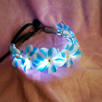 "Disney's Frozen ""Elsa"" inspired LED flower crown for Halloween, costumes, festivals, raves, and more!"