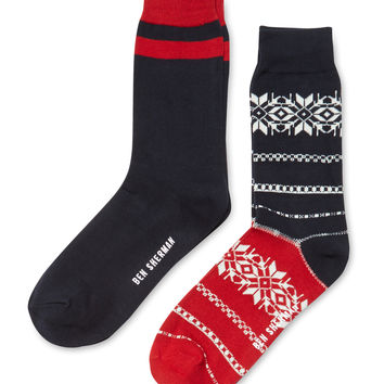 Ben Sherman Socks Men's Fairisle Socks (4 PK)