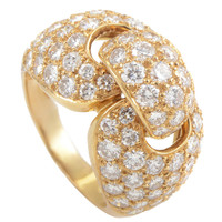 Boucheron Diamond Pave Gold Band Ring