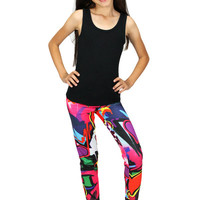 Dirtee Hollywood Graffiti Heart Leggings | Mod Angel