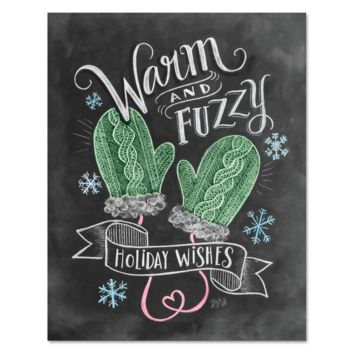 Warm & Fuzzy Holiday Wishes - Print & Canvas