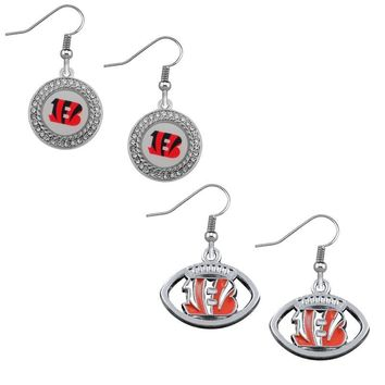 Fashion Jewelry Drop Earrings American Football Cincinnati Bengals Sport Team Enamel Dangle Earrings Jewelry For Women Gift