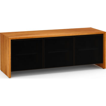 Barcelona 65 Inch TV Stand Cabinet 3 Doors Natural Cherry