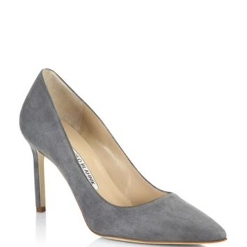 Manolo Blahnik - BB 105 Leather Point Toe Pumps