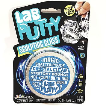 Lab Putty Magic Sculpting Glass Shatter Proof Crystal Clear Stretchy Bouncy Large 50g Putty 1.76oz Goop