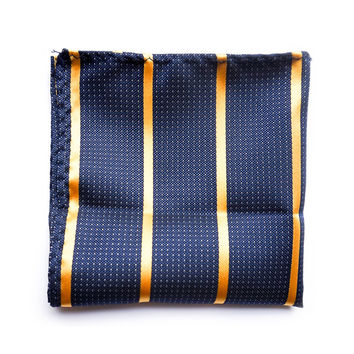 Navy and gold pocket square