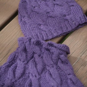 MY MUSE set cowl & hat knitting pattern -baby toddler child teen adult sizes - fall fashion