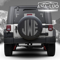 Custom Monogram Tire Cover Jeep Wrangler