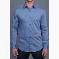{Modern English} Chambray Dress Shirt in Trust Fund Blue