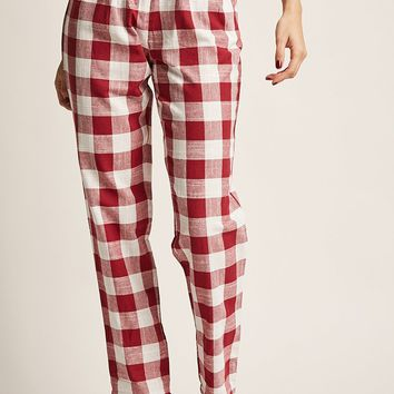 Gingham High-Rise Pants